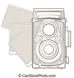 Vintage photo camera with vignette