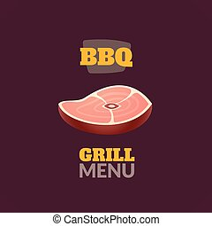 Vintage retro BBQ logo