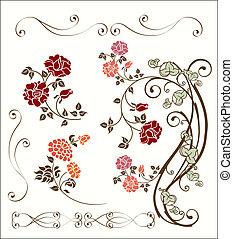 rose decoration set