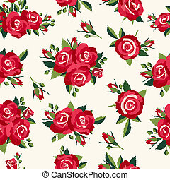 Vintage roses pattern, background in retro style for love design
