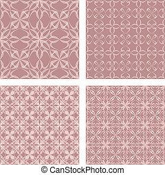 Vintage seamless pattern background set