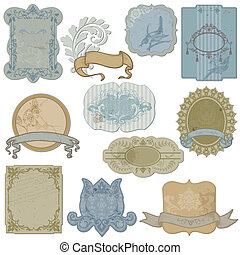 Vintage Set of Labels and Tags - in vector
