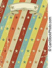 vintage stars pattern poster