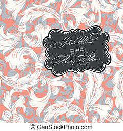 Vintage styled wedding invitation. Vector illustration, EPS10