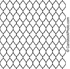 Vintage stylish luxury trellis decorative seamless pattern, geometric background. Vector illustration