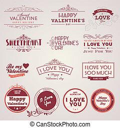 Vintage Valentine's day labels
