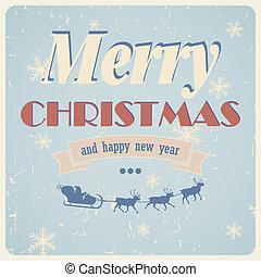Vintage vector christmas card
