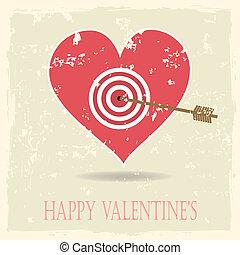 Vintage vector valentine's background