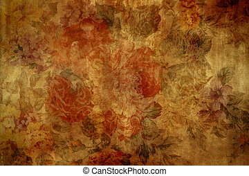 Aged, vintage wallpaper for background