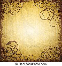 Vintage wine and winemaking paper background. Vector illustration.