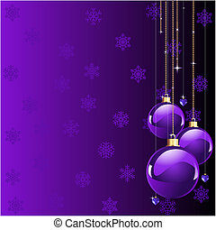 Violet colors Christmas and New year's place card