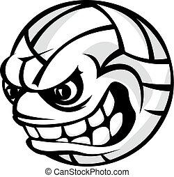 Volleyball cartoon ball