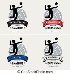 Volleyball club logo design.