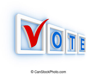 Vote with check mark
