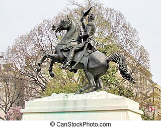 Washington Lafayette Park Andrew Jackson Statue 2011