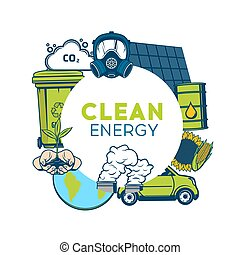 Waste recycling, clean energy, green environment