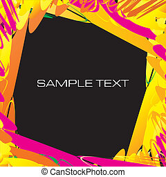 watercolor contemporary design template background frame vector illustration