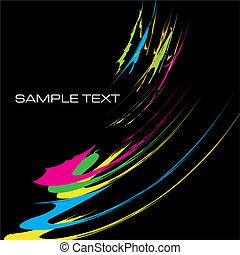 watercolor contemporary design template background vector illustration