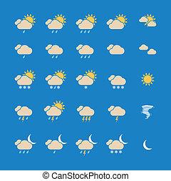 Weather Icon Set. Vector