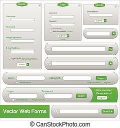 Green web forms template