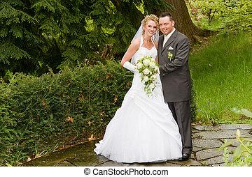 beautiful bride and bride groom