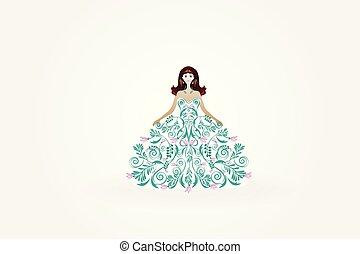 Wedding bride greeting card invitation