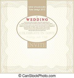 Wedding card flat. Wedding Card Invitation in Vector