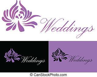Wedding card invitation logo