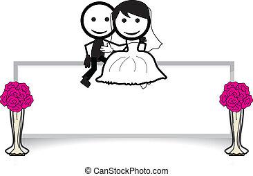wedding couple stick figure