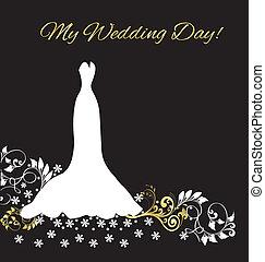 Wedding dress invitation card