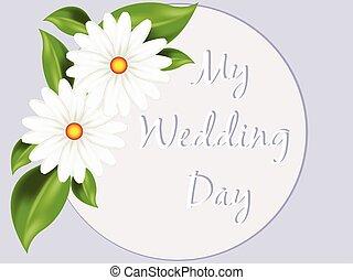 Wedding floral card vector