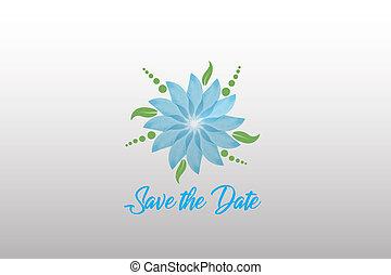Wedding flower card