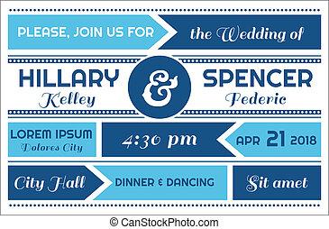 Wedding Invitation Card - in vector