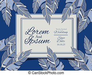 Wedding invitation card vector design