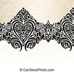 Wedding vintage floral background
