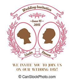 Wedding Vintage Invitation Card - in vector
