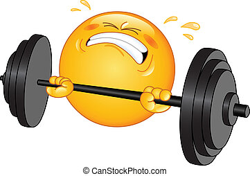 Weightlifter emoticon