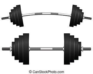 weights against white background, abstract vector art illustration