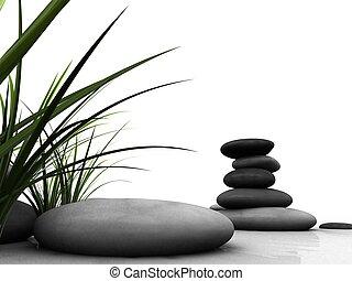 3d rendered illustration of some grey stones