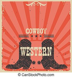 Western Cowboy boots background