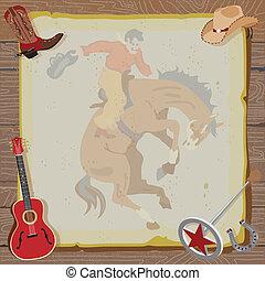 Western Rodeo Cowboy Invitation