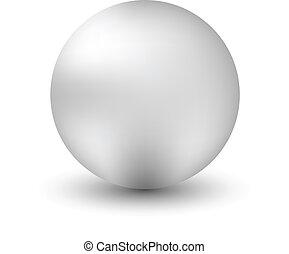 White ball isolated on white