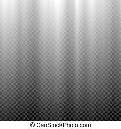 White glowing light. Northern light polar effect