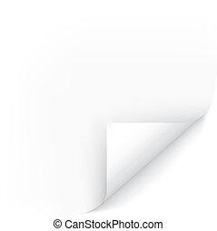 White Page Corner