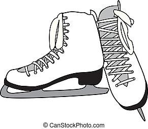 White Pair of Figure Skates
