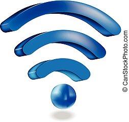 Wifi network sign logo