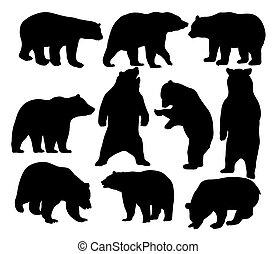 Wild Animal, Bear Silhouettes