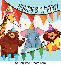 Wild animal birthday party