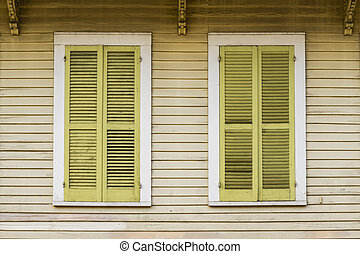 winbdows and Architecture of the French Quarter in New Orleans
