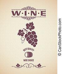 wine vintage grapes label backgroun